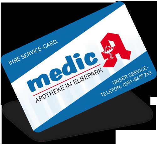 Kundenkarte der Medic-Apotheke im ELBEPARK Dresden